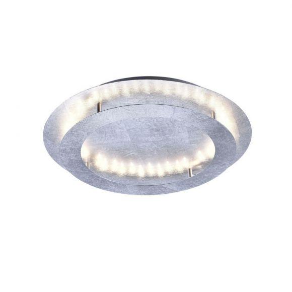 LED-Deckenleuchte Nevis, Ø 50 cm, in silber silber, Blattsilber