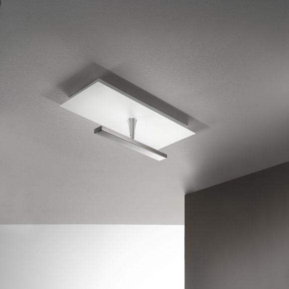 led deckenleuchte in nickel indirektes licht led 24 watt wohnlicht. Black Bedroom Furniture Sets. Home Design Ideas