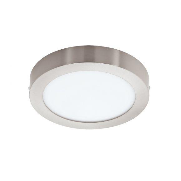 LED-Deckenleuchte Nickel-matt, rund 30 cm