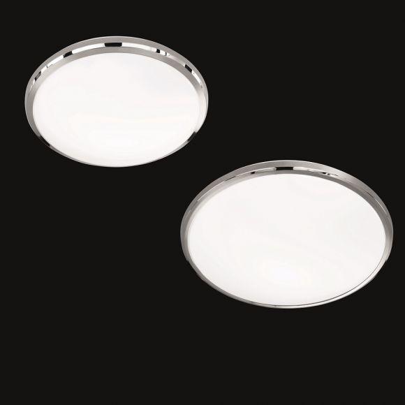 LED-Deckenleuchte Nicolas, Kunststoffglas weiß, 2 Größen
