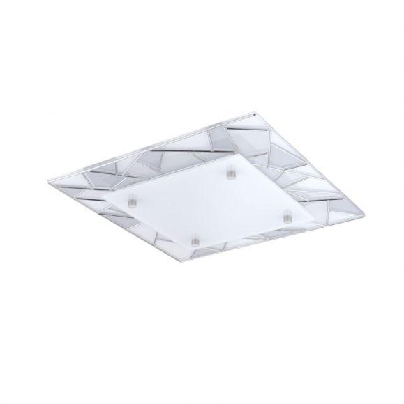LED-Deckenleuchte Pancento in 2 Größen, Verzierungen Chrom