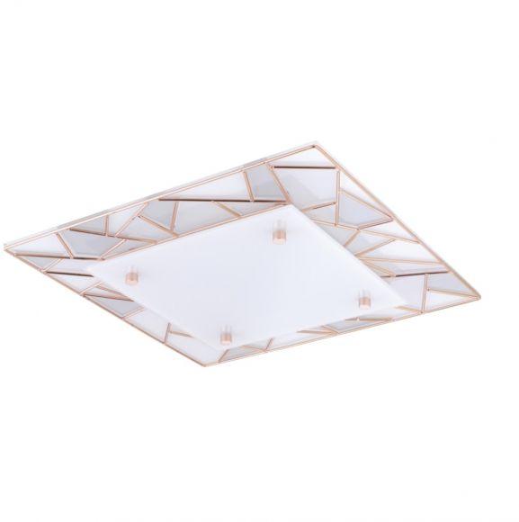 LED-Deckenleuchte Pancento in zwei Größen, Verzierungen Kupfer