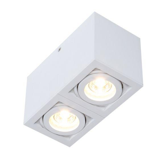 LED-Deckenleuchte weiß Spots schwenkbar Aluminium