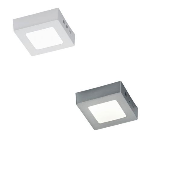 LED-Deckenleuchte Zeus 12x12cm - Nickel matt  oder Weiß
