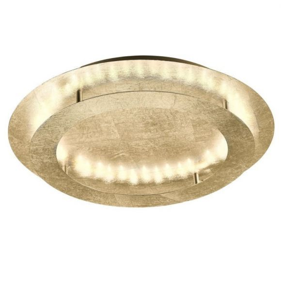 LED-Deckenleuchte, Blattgold o. Blattsilber, D= 50cm, warmweiß