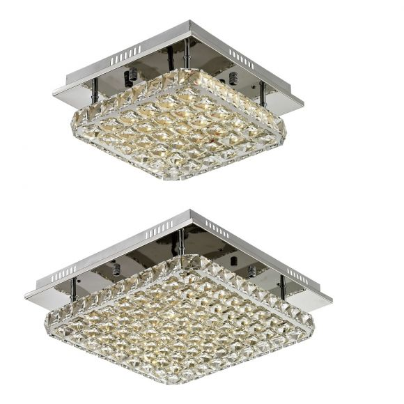 LED-Deckenleuchte - Chrom - Glas - 2 Größen - Inklusive LED 1 x 18 Watt oder 1 x 24 Watt - 3000 Kelvin