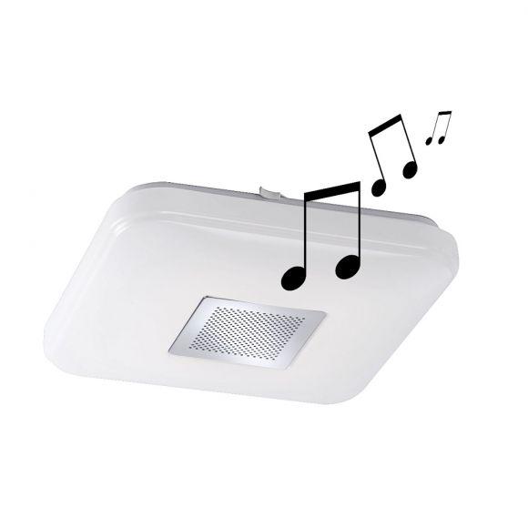 LED- Deckenleuchte - Lichtanpassung warmweiß bis Tageslicht - inklusive LED und Bluetooth - Lautsprecher - 2 Größen