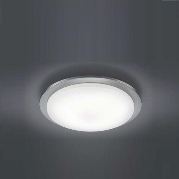 LED-Deckenleuchte  inklusive 5 x4,5 Watt LED, warmweiß 3000K, Leuchte in Nickel + Extra 1x GU10 LED Leuchtmittel zur freien Nutzung