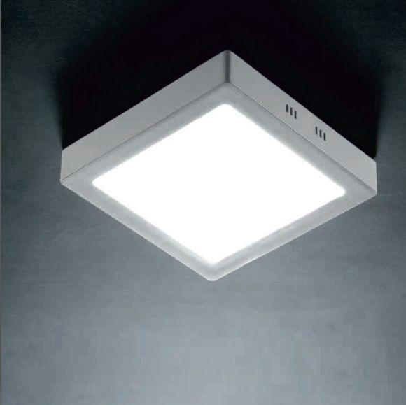 LED-Deckenleuchte - Nickel matt / Weiß verschiedene Größen