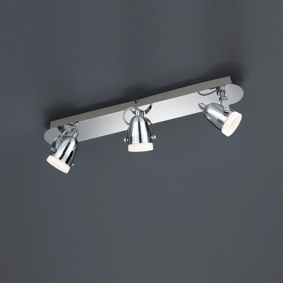 LED-Deckenstrahler 3-flg Chrom - inkl 3x 4,5 Watt LED