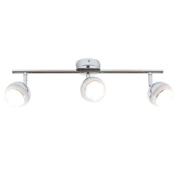 LED-Deckenstrahler 3-flg - Chrom chrom