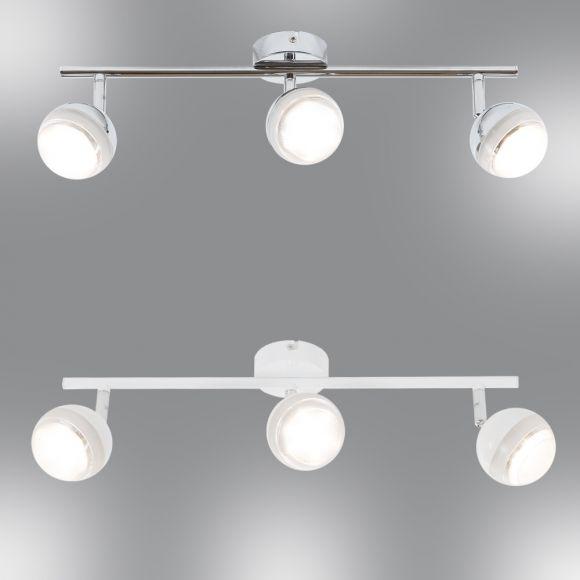 LED-Deckenstrahler 3-flg - Chrom oder Weiß, hochwertige Qualität
