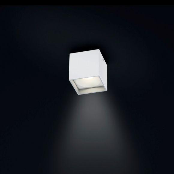 LED-Deckenstrahler Dora 1 in Weiß, eckig, 1xLED 4W