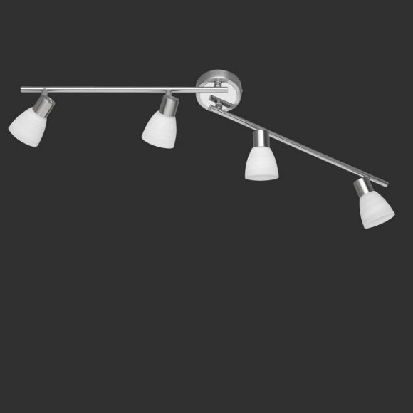 LHG LED-Deckenstrahler Nickel matt und Chrom - 4- flammig