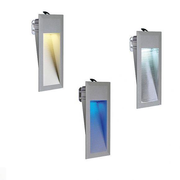 LED-Einbauleuchte in Steingrau mit LEDs in weiß oder warmweiß, IP44