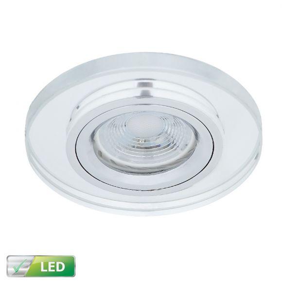 LED-Einbaustrahler mit Glasrahmen rund - LED 1x GU10 5W
