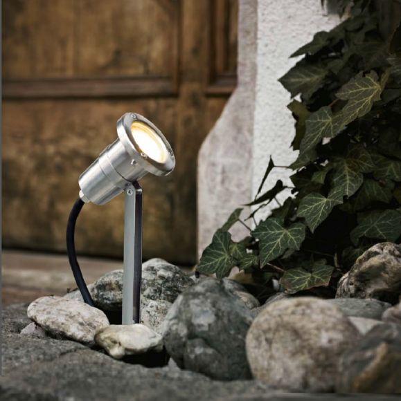 LED-Erdspießstrahler mit Farbfilter