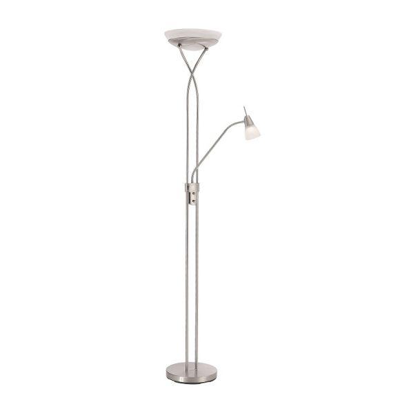 LED-Fluter mit Lesearm in stahl, 25W LED + LED Taschenlampe