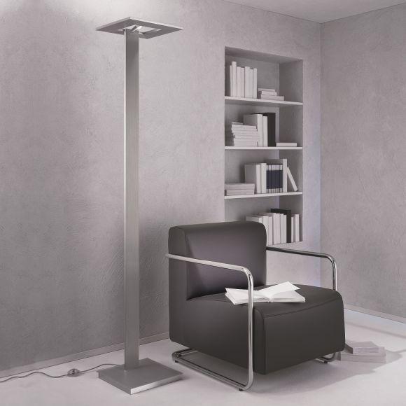 LED-Fluter Zen in Aluminium geschliffen, mit Tastdimmer
