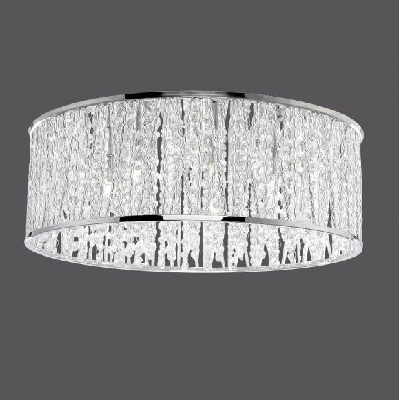 LED-Kristalldeckenleuchte Lefes 48cm, 7 x 3Watt