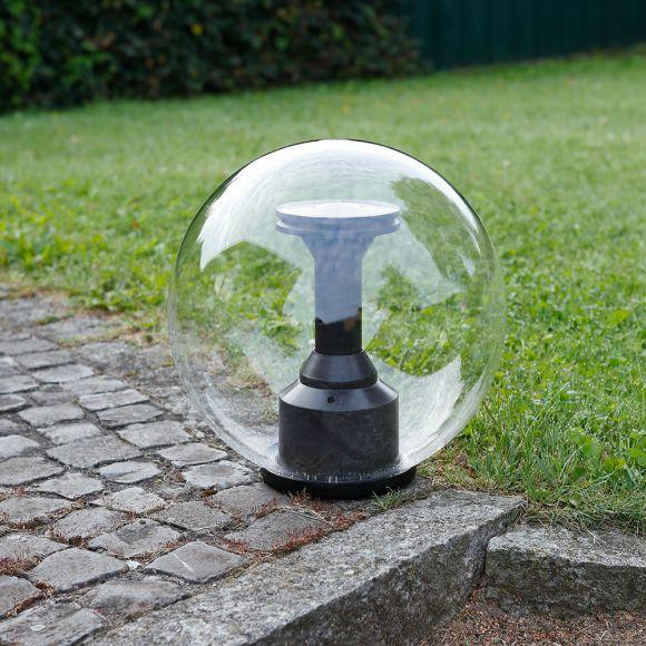 LED-Kugelleuchte transparent IP44, 40 cm