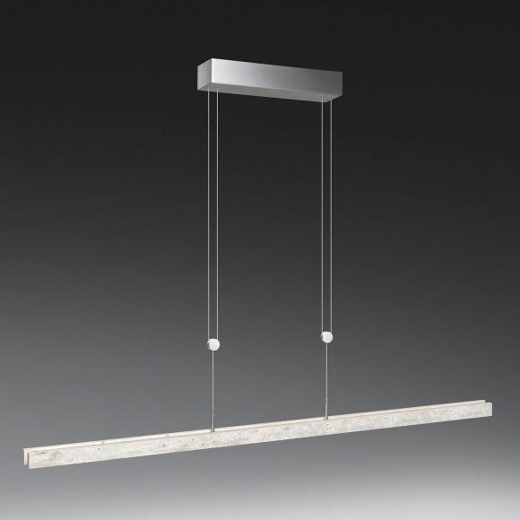 LED-Pendelleuchte in Aluminium-matt / Beton-Optik 2 Längen