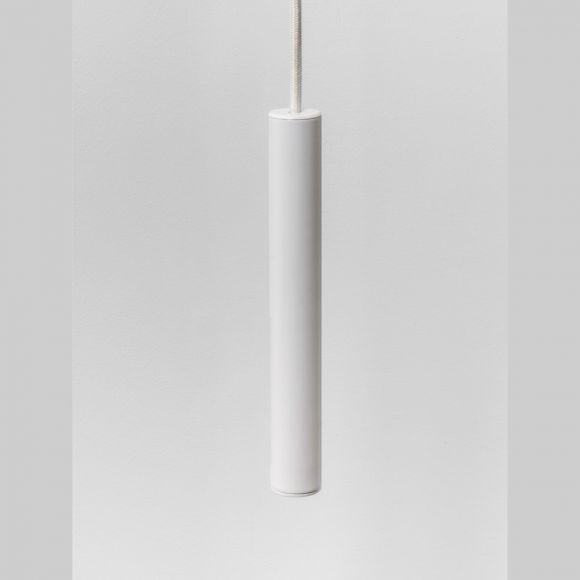 LED-Pendelleuchte anodisiertes Aluminium in weiß