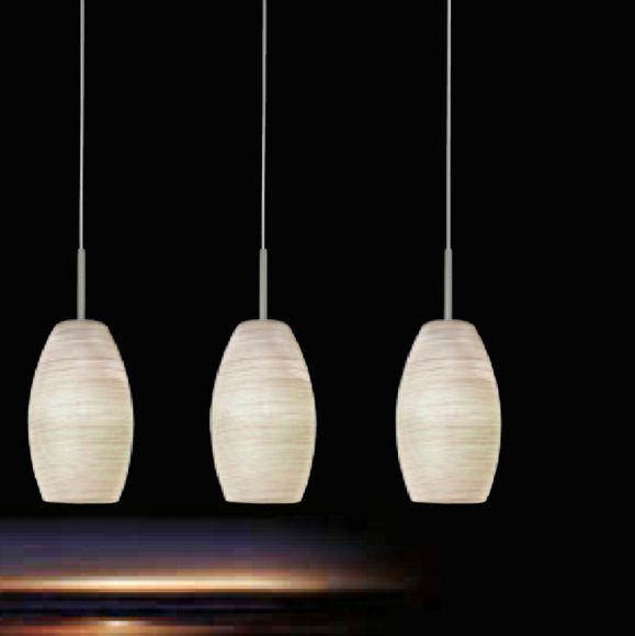 LED-Pendelleuchte Glas mit Wischtechnik