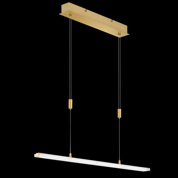 LED-Pendelleuchte Turn in Messing-matt, 2 Längen
