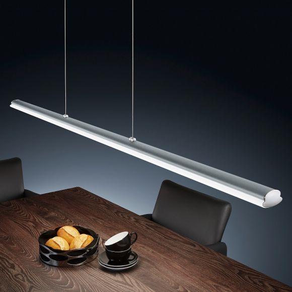 LED-Pendelleuchte Venta in Nickel-matt, höhenverstellbar