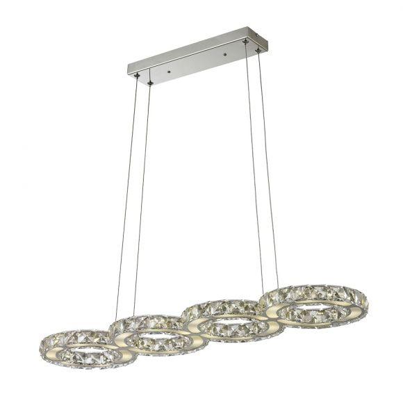 LED-Pendelleuchte - Chrom - Glas - LED 1 x 20 Watt