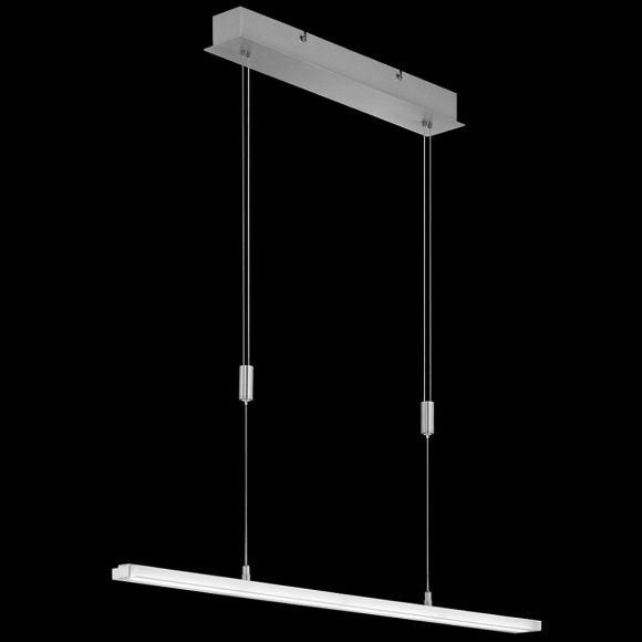 led pendelleuchte nickel matt h henverstellbar eckig 2. Black Bedroom Furniture Sets. Home Design Ideas
