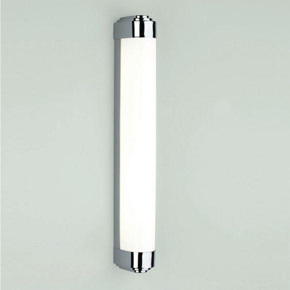 LED-Spiegelleuchte in Chrom, inklusive 14,3W LED und Treiber - IP44 - inklusive LED-Taschenlampe