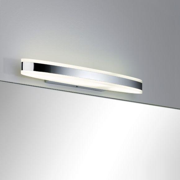 LED-Spiegelleuchte Metall und Acryl, IP44-Schutz, inklusive 9Watt  LED, 3000 K warmweiß