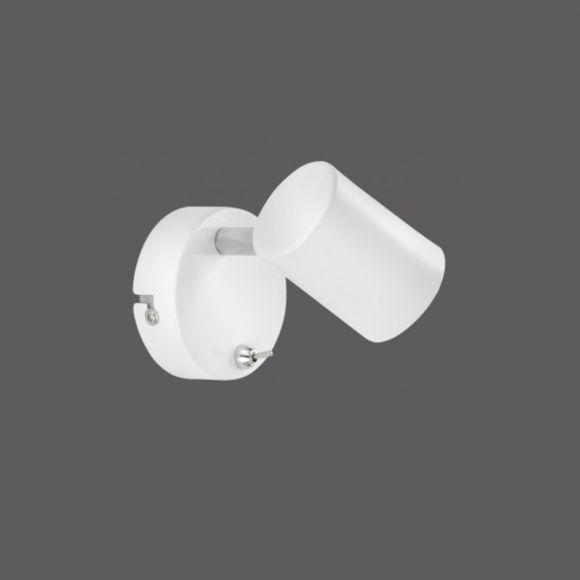 LED-Spotleuchte aus weißem Metall - drehbar