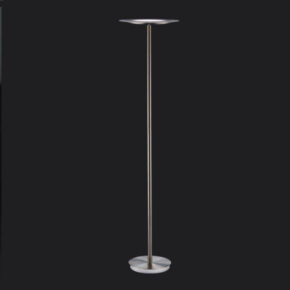 LED-Standfluter mit Touchdimmer in Nickel matt