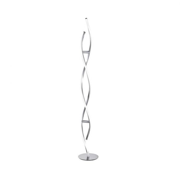LED-Stehleuchte Polina, 136 cm hoch, stahlfarbig
