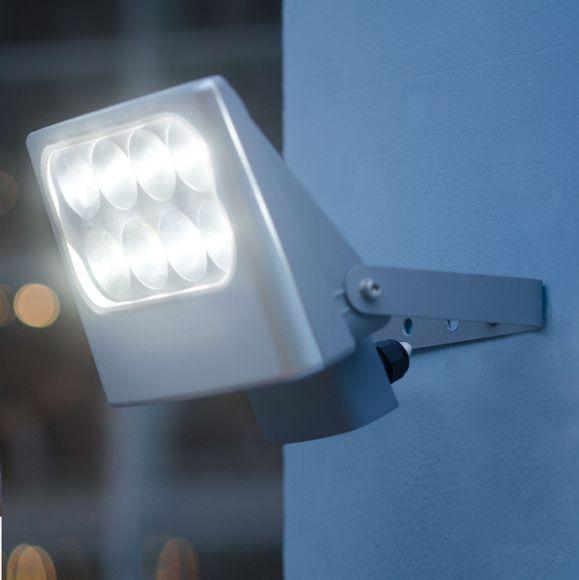 led strahler 8x3watt lichtfarbe neutralwei schwenkbar wohnlicht. Black Bedroom Furniture Sets. Home Design Ideas
