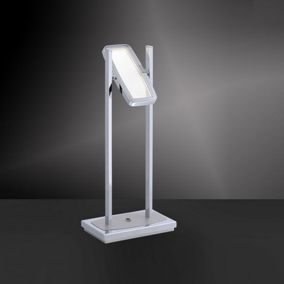 LED-Tischleuchte Ilona in Chrom, dimmbar - 1 x 4,6W LED