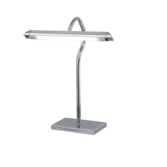 Flexible LED-Tischleuchte in Chrom oder Silber - LED 1 x 5 W