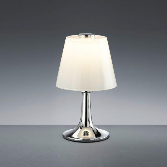 LED-Tischleuchte Monti mit weißem Glas - zwei Farben