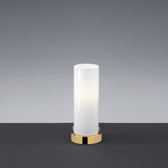 LED-Tischleuchte Seta mit Opalglas, vier Farben