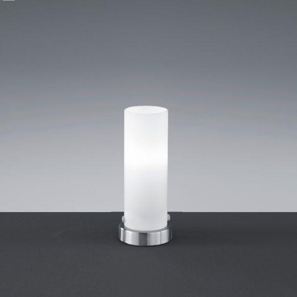 LED-Tischleuchte Seta mit Opalglas, Nickel-matt