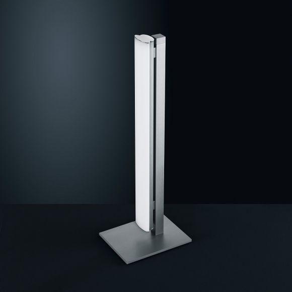 LED-Tischleuchte Venta in Nickel-matt mit Acrylglas
