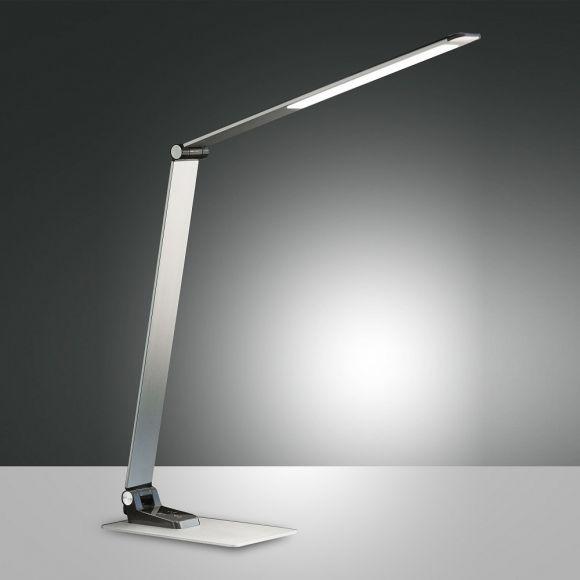 LED-Tischleuchte Versilia mit USB-Charger