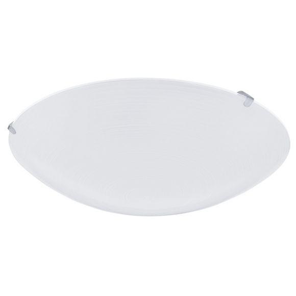 LED-Wand/Deckenleuchte mit hangefertigtem weißem Glas in Wischtechnik