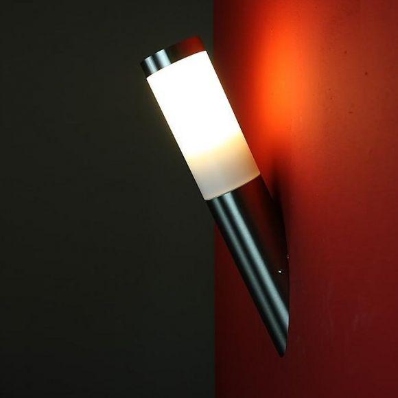 LED-Wandleuchte Außenleuchte Fackeloptik Edelstahl