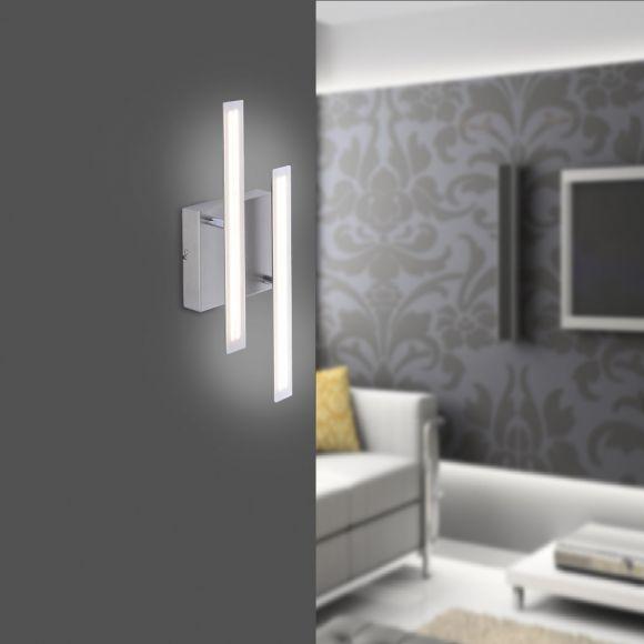 LED- Wandleuchte aus Stahl - drehbar - inklusive 2x 8 Watt LED