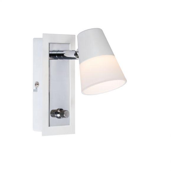 led wandleuchte chic mit glas in 2 versionen dimmer wohnlicht. Black Bedroom Furniture Sets. Home Design Ideas