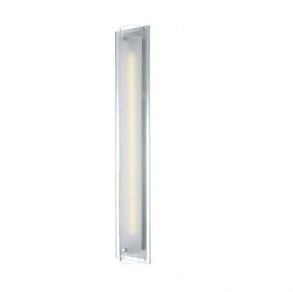 LED-Wandleuchte Chrom 12cm x 70cm, 1x 12W, Inkl LED Taschenlampe